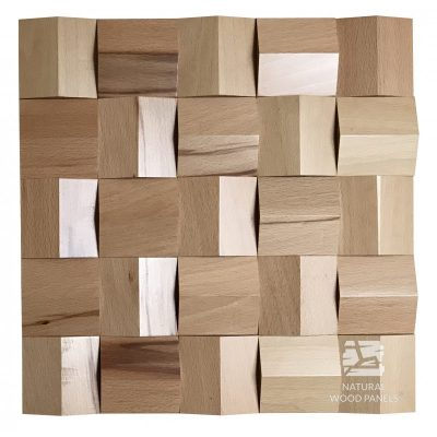 Panel drewniany 3D - Natural Wood Panels - Buk Crystal 082
