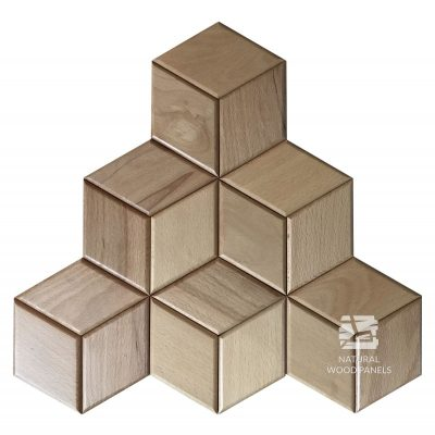 Panel drewniany 3D - Natural Wood Panels - Buk Hexagon 16