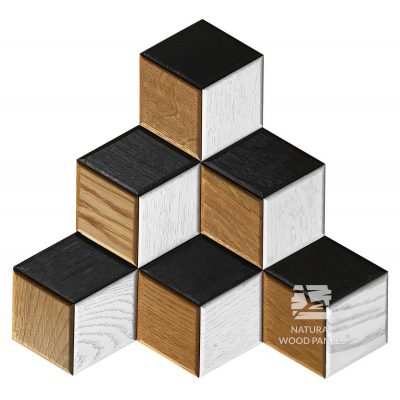 Panel drewniany 3D - Natural Wood Panels - Dąb Mix Hexagon 24