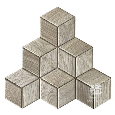 Panel drewniany 3D - Natural Wood Panels - Dąb Natur Hexagon 15