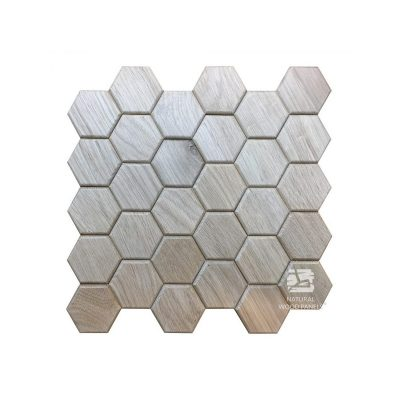 Panel drewniany 3D - Natural Wood Panels - Dąb Natur Hexagon 3