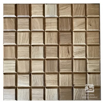 Panel drewniany 3D - Natural Wood Panels - Dąb Rustikal Choco mini 7