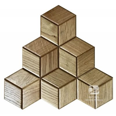 Panel drewniany 3D - Natural Wood Panels - Dąb Rustikal Hexagon 14