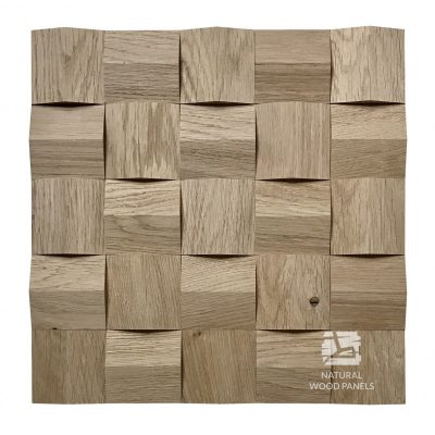 Panel drewniany 3D - Natural Wood Panels - Dąb Surowy Crystal 080