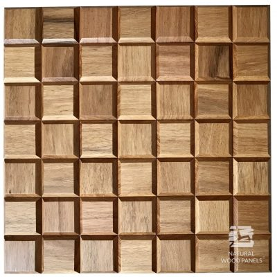 Panel drewniany 3D - Natural Wood Panels - Doussie Choco mini 8