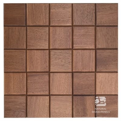 Panel drewniany 3D - Natural Wood Panels - Eukaliptus Choco 5