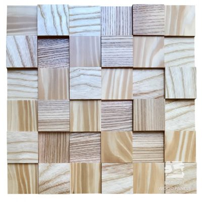 Panel drewniany 3D - Natural Wood Panels - Jesion 046