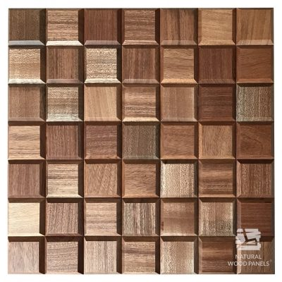 Panel drewniany 3D - Natural Wood Panels - Mahoń Sapeli Choco mini 11