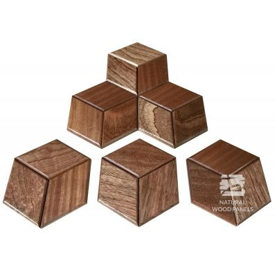 Panel drewniany 3D – Natural Wood Panels – Mahoń Sapeli Hexagon 19