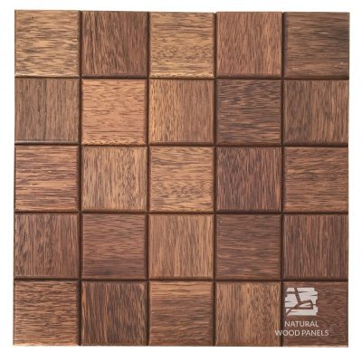 Panel drewniany 3D - Natural Wood Panels - Merbau Choco 3