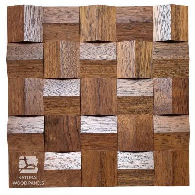 Panel drewniany 3D - Natural Wood Panels - Merbau Crystal 084