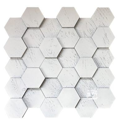 Panel drewniany - Natural Wood Panels - Hexagon 8 dąb scandi 3D