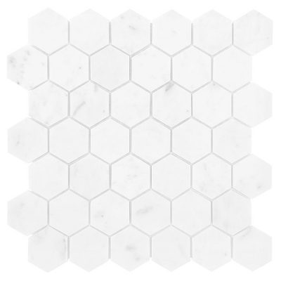 Mozaika kamienna - Dunin - Carrara White Hexagon 48